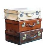 Uitstekende koffers Stock Foto's