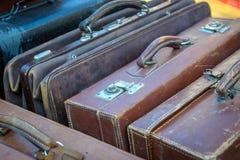 Uitstekende koffers Royalty-vrije Stock Afbeelding