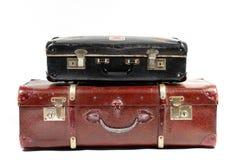 Uitstekende koffers Royalty-vrije Stock Foto's