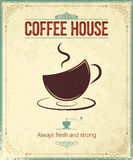 Uitstekende koffieachtergrond Stock Afbeelding