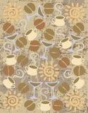 Uitstekende koffieachtergrond Royalty-vrije Stock Afbeelding
