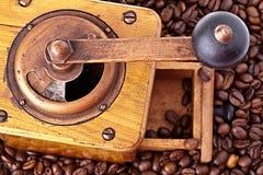 Uitstekende Koffiemolen Stock Afbeeldingen