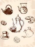 Uitstekende koffiereeks royalty-vrije illustratie