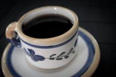 Uitstekende kop van koffie Stock Afbeelding