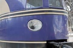 Uitstekende koplamp van oude trein royalty-vrije stock fotografie