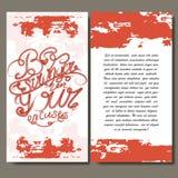 Uitstekende kunstkaarten Vector decoratief retro uitnodigingsontwerp Kalligrafische illustratie Stock Foto's