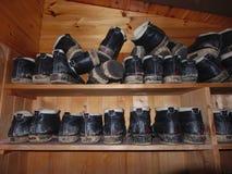 Uitstekende laarzen Stock Foto