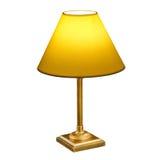 Uitstekende lamp die op wit wordt geïsoleerdw royalty-vrije stock afbeeldingen