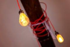 Uitstekende lamp Edison royalty-vrije stock afbeelding