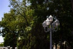 Uitstekende lamp in het park royalty-vrije stock fotografie