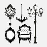 Uitstekende Lamppictogrammen geplaatst voor om het even welk gebruik groot Vector eps10 Royalty-vrije Stock Foto