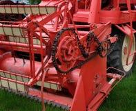 Uitstekende landbouw maaidorser bij toont royalty-vrije stock foto