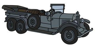 Uitstekende lange militaire convertibel stock illustratie