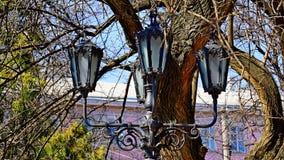 Uitstekende lantaarn op Kathedraal Vierkant Odessa stock fotografie