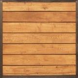 Uitstekende lichtbruine houten lijst met ijzerkaders Stock Foto's