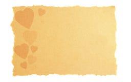 Uitstekende liefde en van de Valentijnskaart kaart. Stock Fotografie