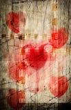 Uitstekende liefde geweven achtergrond Stock Afbeeldingen