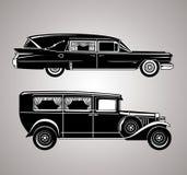 Uitstekende lijkwagens Royalty-vrije Stock Foto