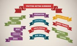 Uitstekende Linten voor Marketing en Verkoop Stock Fotografie