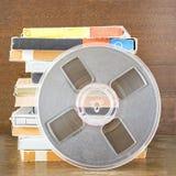 Uitstekende magnetische audiobanden, spoel om type te winden royalty-vrije stock foto's