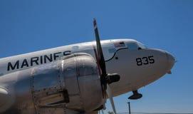 Uitstekende Marine Corps Aircraft dichtbij San Diego, Californië Stock Afbeelding