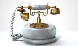 Uitstekende Marmeren Telefoon Royalty-vrije Stock Afbeeldingen