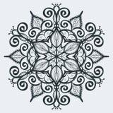Uitstekende mehndi van de ornamenthenna Royalty-vrije Stock Foto's