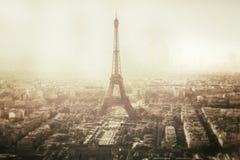 Uitstekende mening van de toren van Eiffel in Parijs - Frankrijk Royalty-vrije Stock Foto