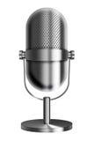 Uitstekende metaalmicrofoon Royalty-vrije Stock Foto's