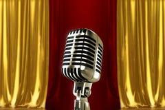 Uitstekende microfoon Royalty-vrije Stock Foto
