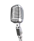 Uitstekende microfoon Royalty-vrije Stock Afbeeldingen
