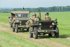 Uitstekende militaire jeeps Royalty-vrije Stock Fotografie