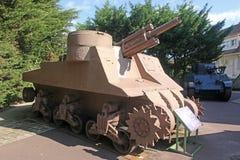 Uitstekende militaire tank, Frankrijk royalty-vrije stock foto's
