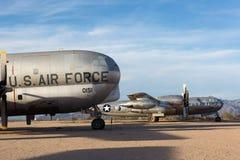 Uitstekende militaire vliegtuigen in Tucson Arizona royalty-vrije stock fotografie