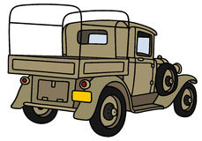 Uitstekende Militaire Vrachtwagen Royalty-vrije Stock Foto's