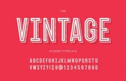 Uitstekende moderne lettersoort stock illustratie