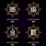 Uitstekende Monogrammen - 4 reeksen Royalty-vrije Stock Afbeelding