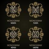 Uitstekende Monogrammen - 4 reeksen Stock Afbeelding