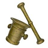Uitstekende mortier en stamper Royalty-vrije Stock Afbeeldingen