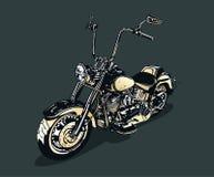 Uitstekende motorfiets vector illustratie