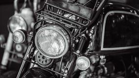 Uitstekende Motorfiets Voor LEIDENE Koplamp royalty-vrije stock fotografie