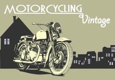 Uitstekende motorfietsillustratie royalty-vrije stock fotografie