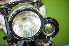 Uitstekende Motorfietskoplamp royalty-vrije stock foto's