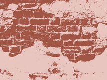 Uitstekende muur, vector Stock Foto's