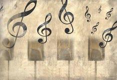 Uitstekende muziekachtergrond Stock Fotografie