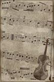 Uitstekende muziekachtergrond Royalty-vrije Stock Foto's