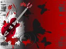 Uitstekende muziekachtergrond Stock Afbeelding