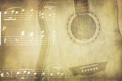 Uitstekende muziekcollage Stock Afbeeldingen