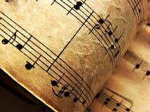 Uitstekende muzieknoten Stock Foto
