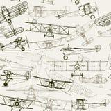 Uitstekende naadloze achtergrond Gestileerde vliegtuigillustratie stock illustratie